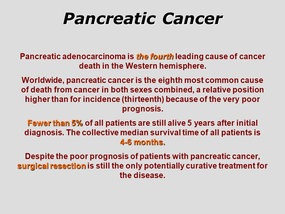 Pancreatic cancer stage 4 prognosis