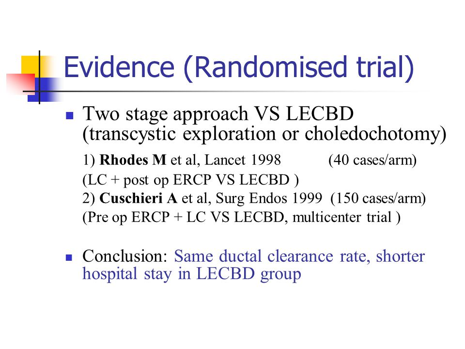 Evidence (Randomised trial)