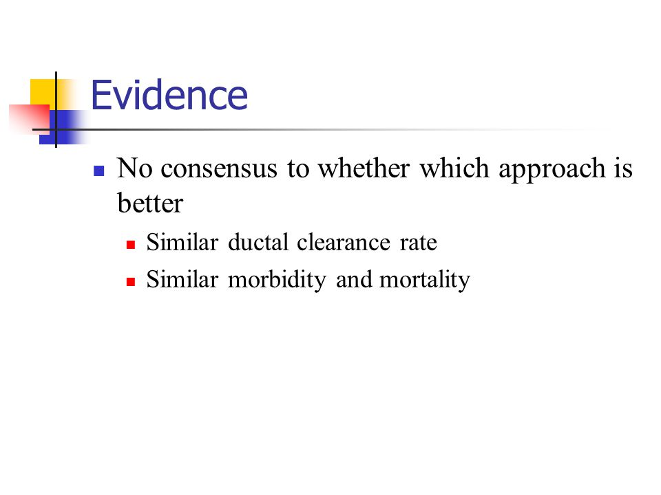 Evidence No consensus to whether which approach is better