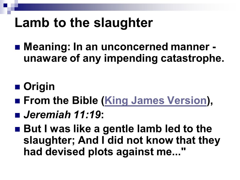 lamb to the slaughter text