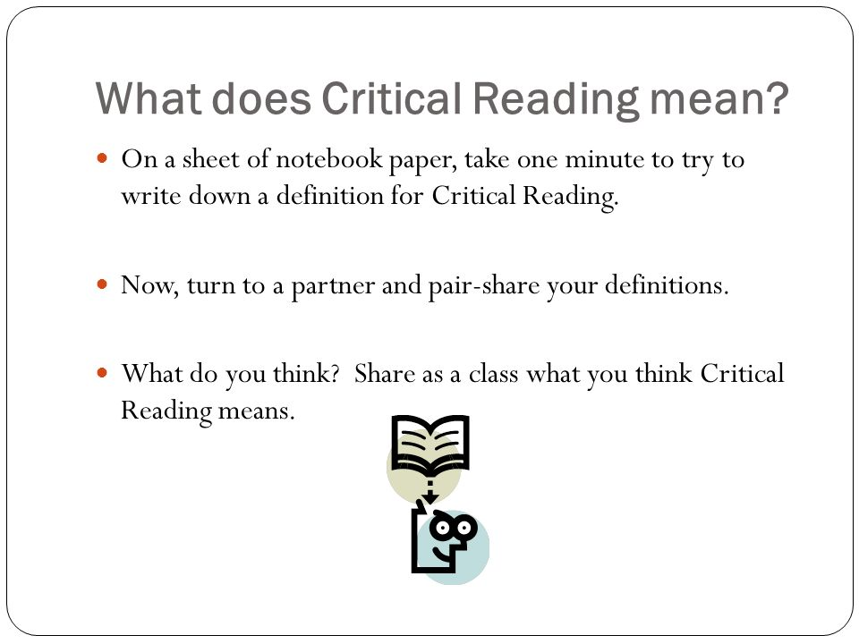 Printable Worksheets critical reading skills worksheets : How to take your reading to the next level…. - ppt video online ...