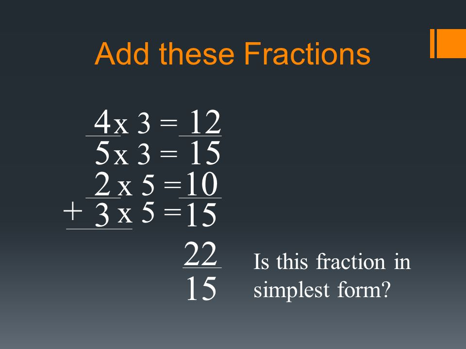 Add or Subtract Fractions with Unlike Denominators - ppt video ...