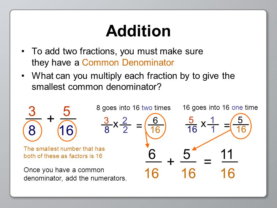 how to get common denominator in fraction
