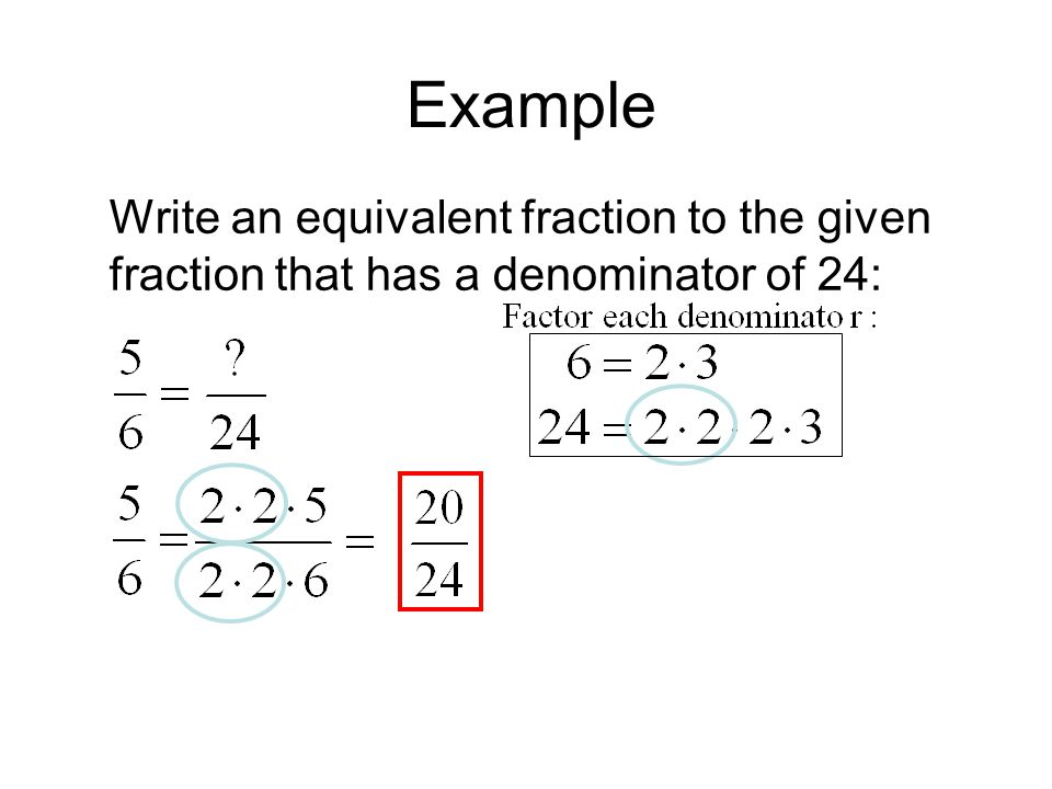 write equivalent fractions An interactive math lesson about identifying equivalent fractions.