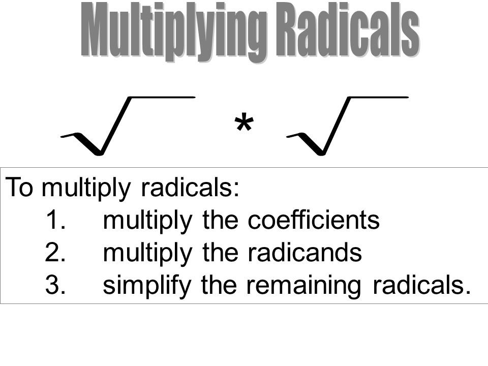 Properties Worksheets Simplifying Multiplying  Rationalizing Radicals  Ppt Download Writing Dialogue Worksheets with Main Idea Worksheets Second Grade To Multiply Radicals Multiply The Coefficients Linear Functions Worksheet Pdf