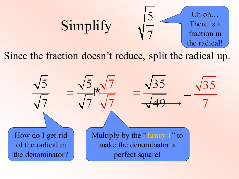 Simplifying, Multiplying, & Rationalizing Radicals - ppt download