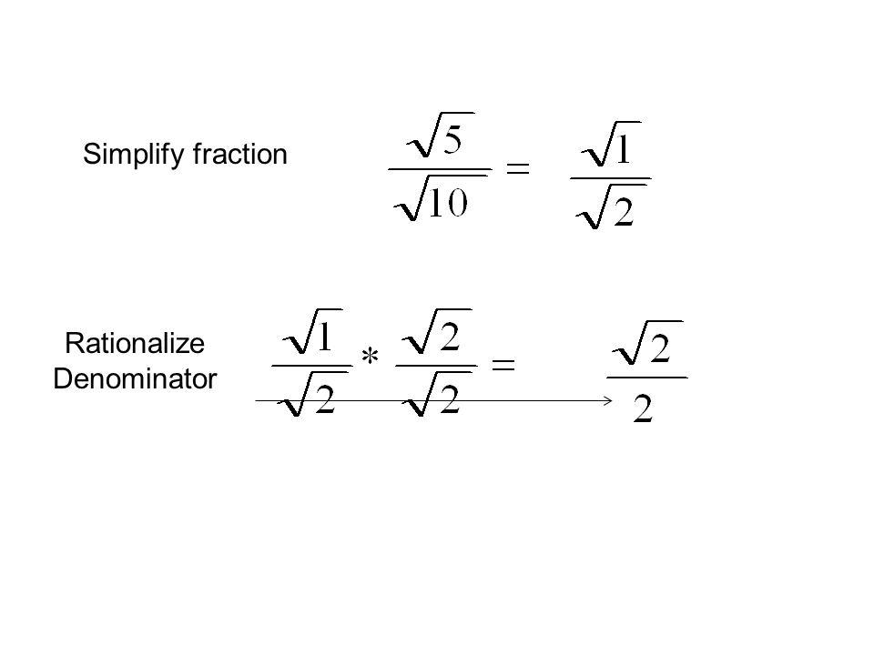 Simplifying Multiplying Rationalizing Radicals ppt download – Rationalizing Denominators Worksheet