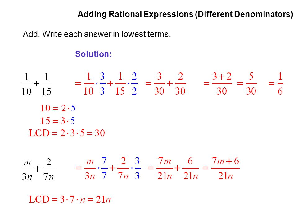 Writing a Rational Expression in Lowest Terms