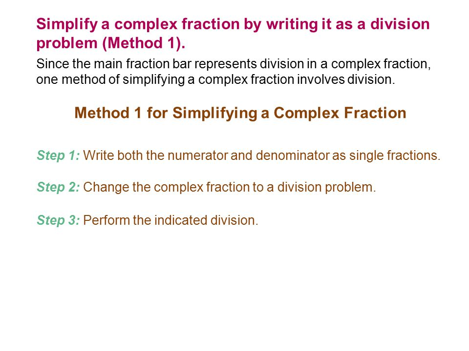 Nested fractions