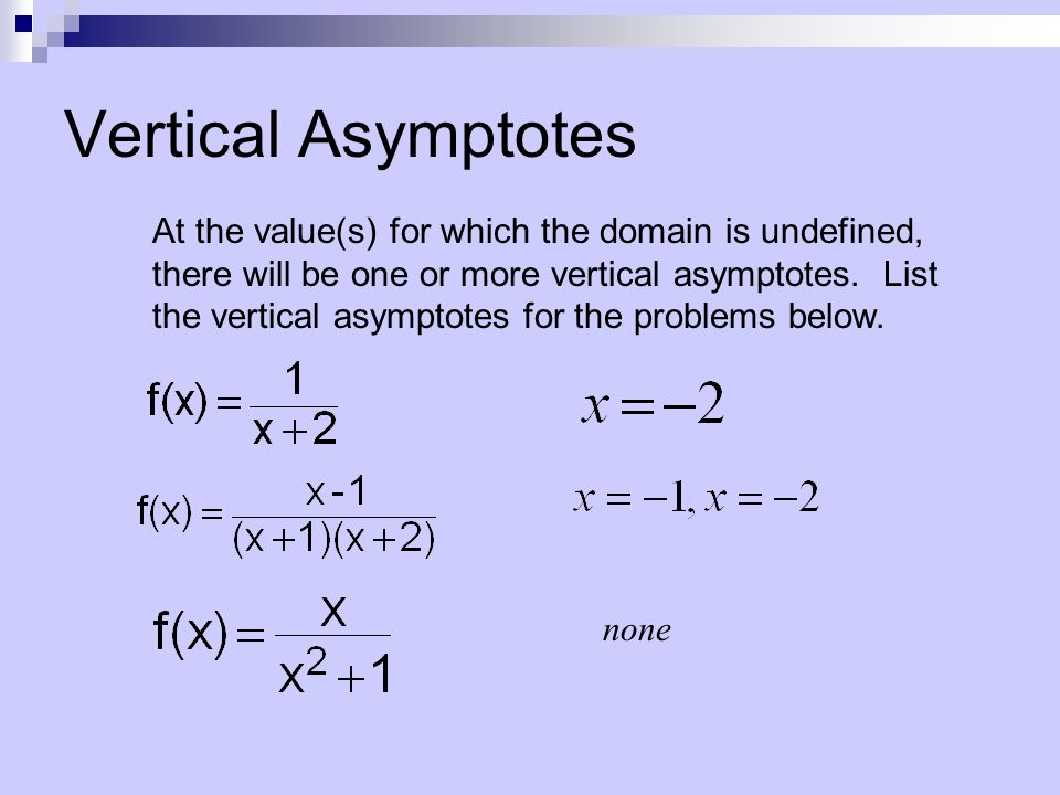 how to find vertical asymptotes for tan2x