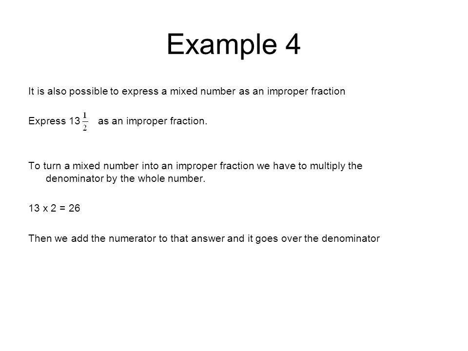 how to change a fraction into a whole number