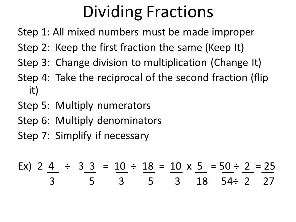 Test review the test will be on the following improper to mixed 34 dividing fractions ccuart Images
