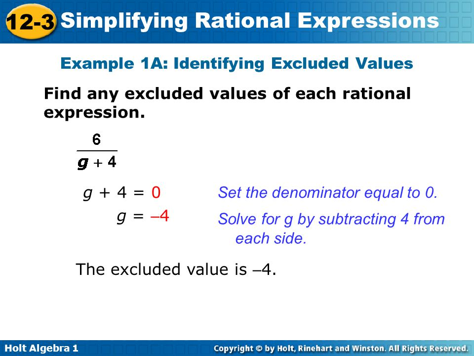 Example 1A: Identifying Excluded Values