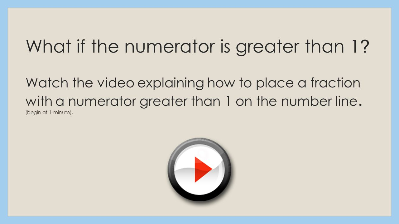 What If The Numerator Is Greater Than 1