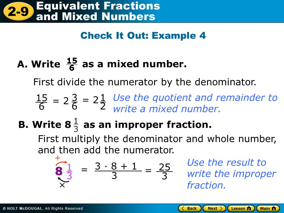 how to write an improper fraction in simplest form