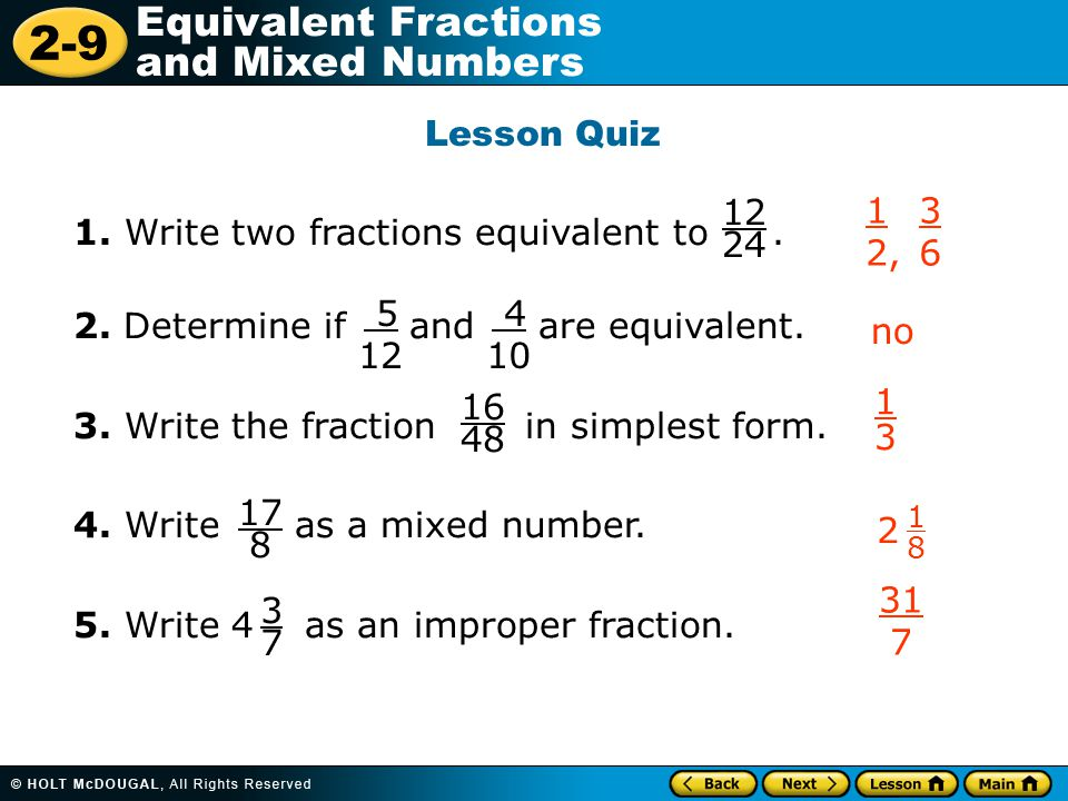 How To Convert Improper Fractions To Mixed Numbers