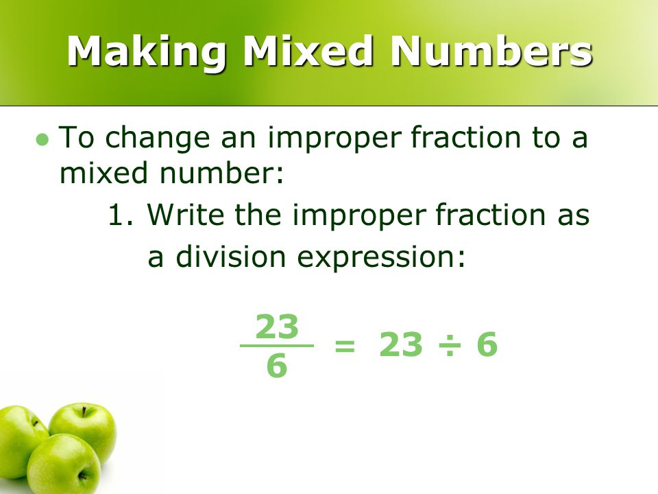 Write a division expression as a fraction