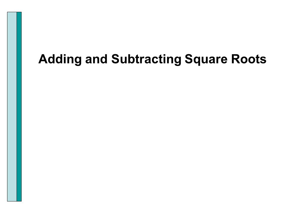 math worksheet : section p3 radicals and rational exponents  ppt download : Subtracting Square Roots