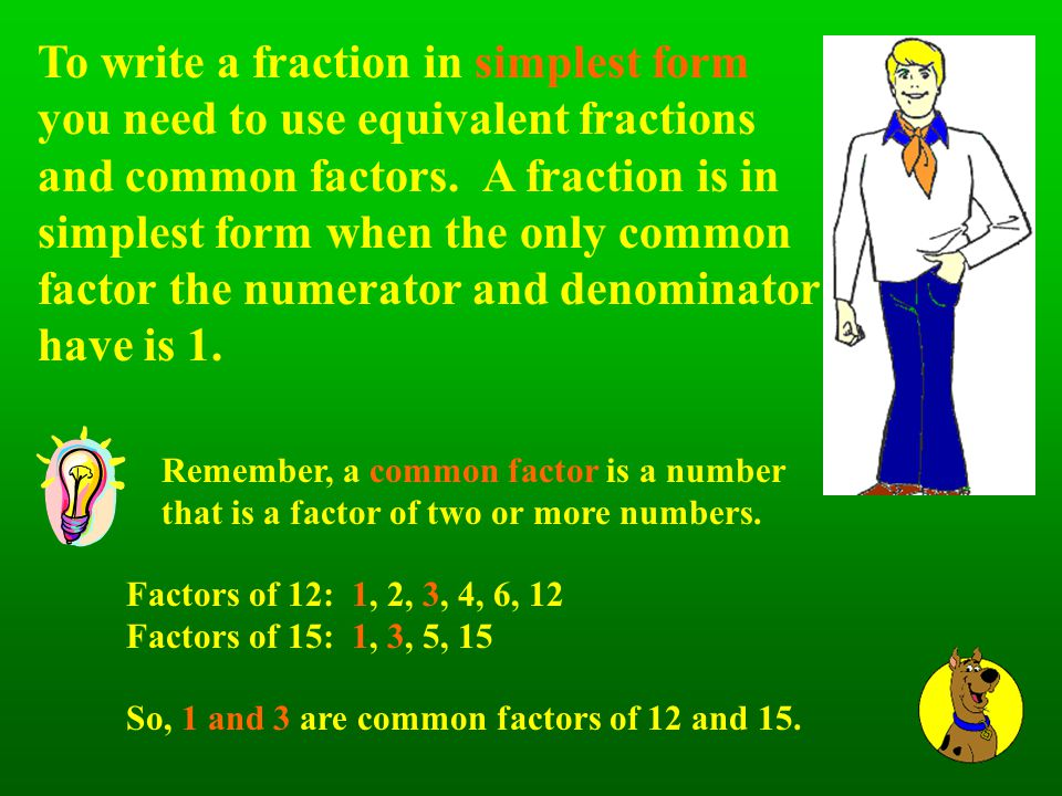 FRACTIONS With Scooby Doo by Mr. Meute, Foster Elementary Fourth ...