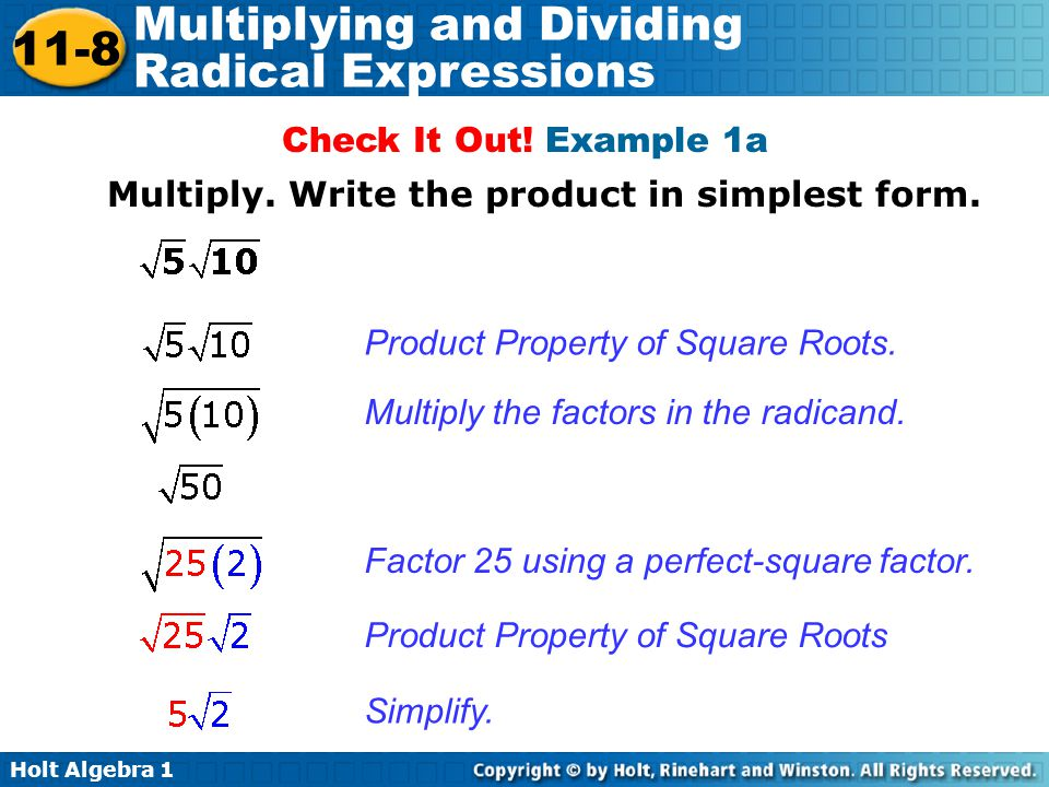 Multiplying and Dividing Radial Expressions ppt download