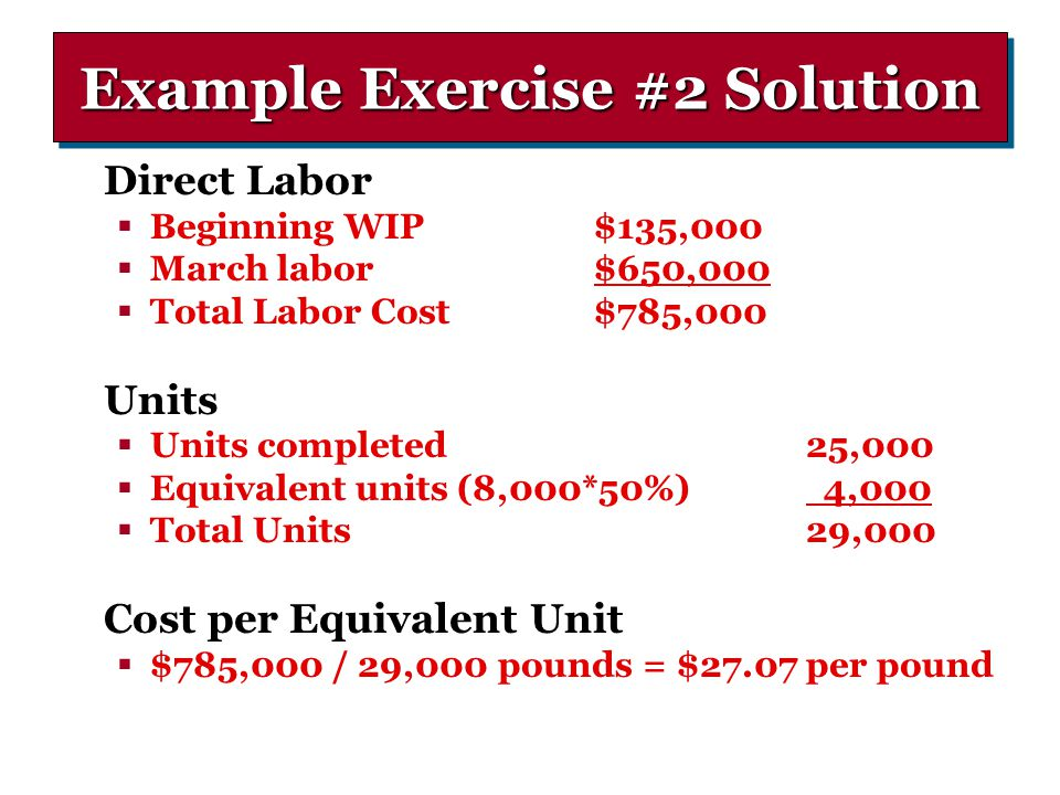 Example Exercise #2 Solution