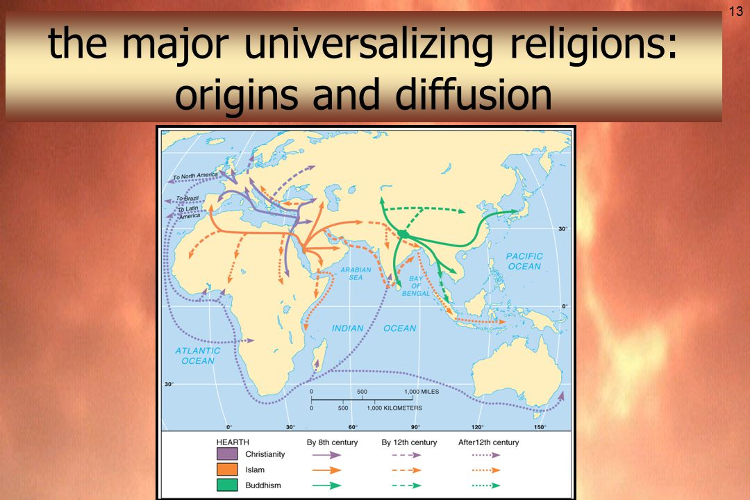 The Geography Of Religion Ppt Download - Religious diffusion maps us