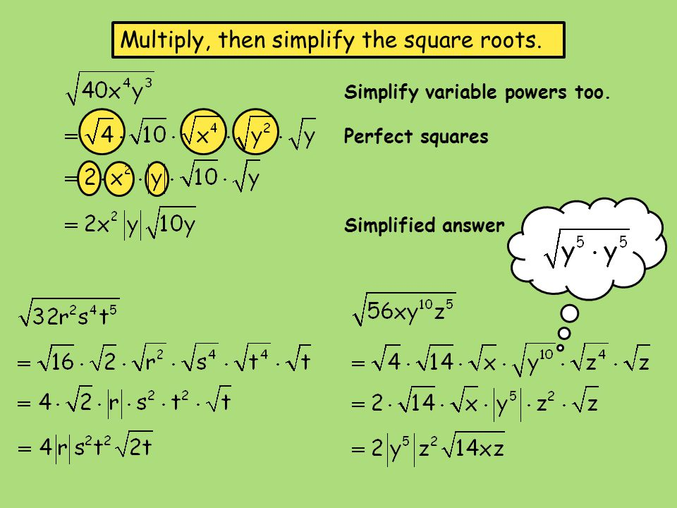 Simplifying Radical Expressions - ppt video online download
