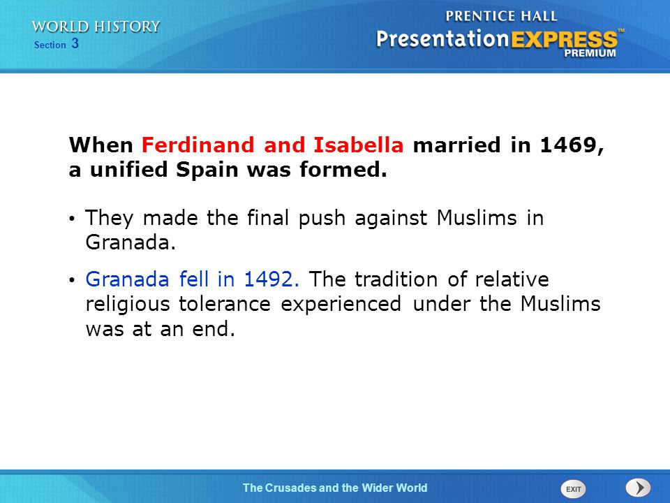 When Ferdinand and Isabella married in 1469, a unified Spain was formed.