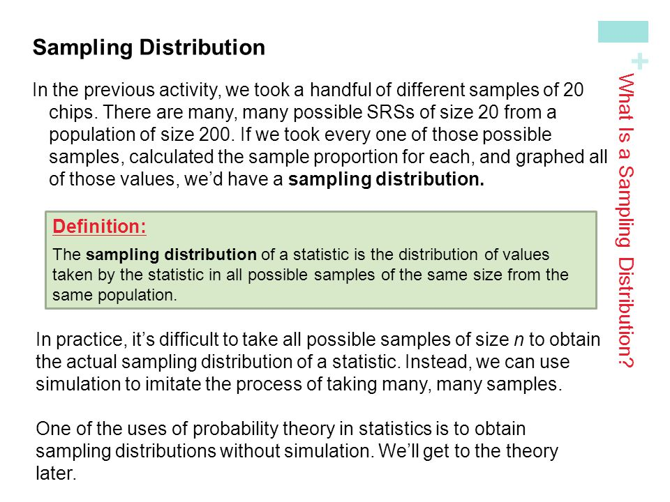 What Is a Sampling Distribution? - ppt download
