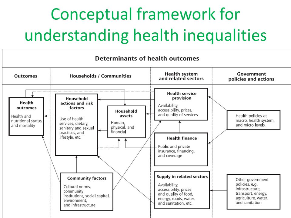 policy interventions for healthcare inequality These efforts have improved our understanding of current patterns of inequalities in health and factors influencing health monitoring health inequalities in a systematic and comparable way over time helps to identify vulnerable populations and to examine the impact that policies and interventions may have on the health of canadians.