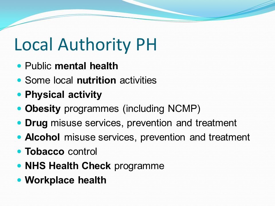 Local Authority PH Public mental health