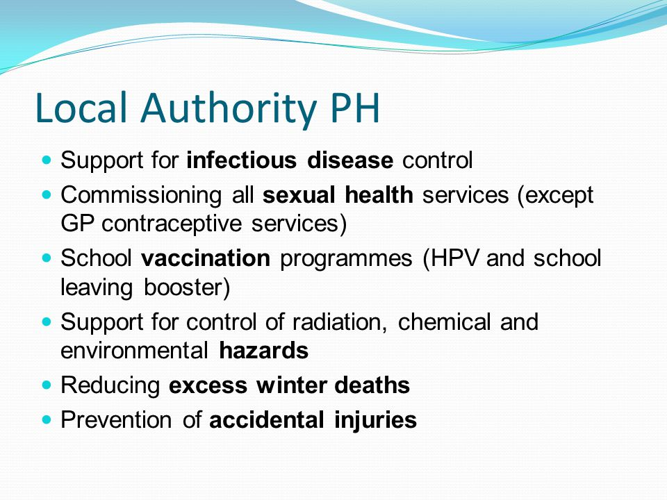 Local Authority PH Support for infectious disease control