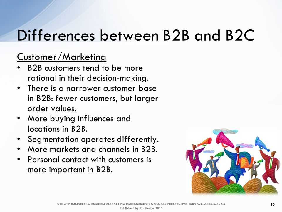 differences between the b2b and b2c Companies are still skeptical of the benefits of b2b social media marketing for their business the reason is a perceived inability to measure the effectiveness.