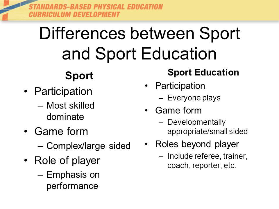 Sport Education Ppt Download