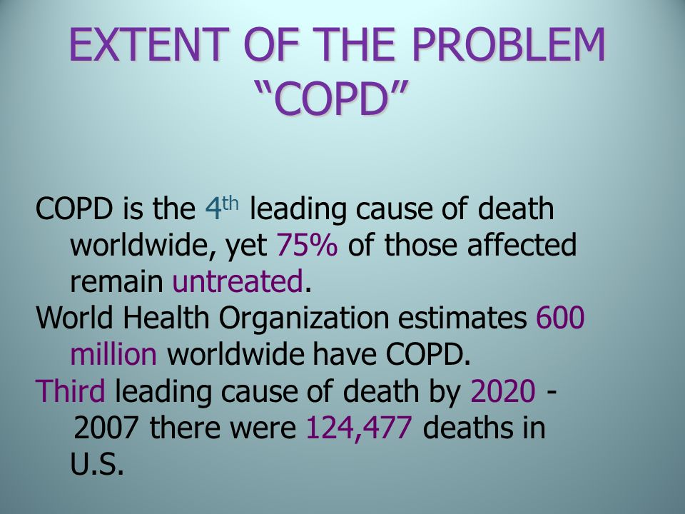 COPD EXTENT OF THE PROBLEM