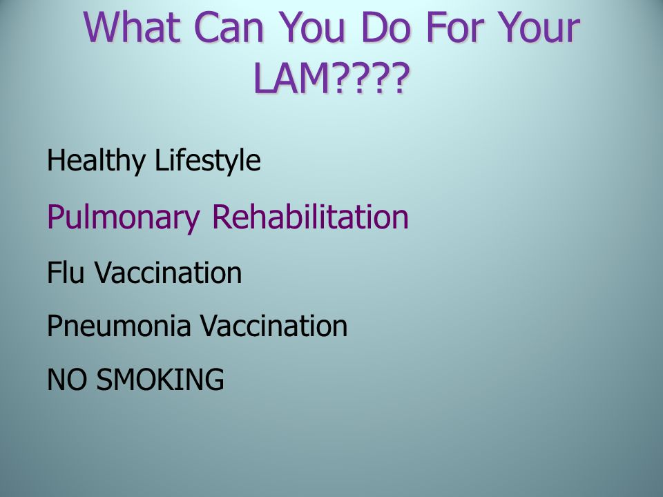 What Can You Do For Your LAM