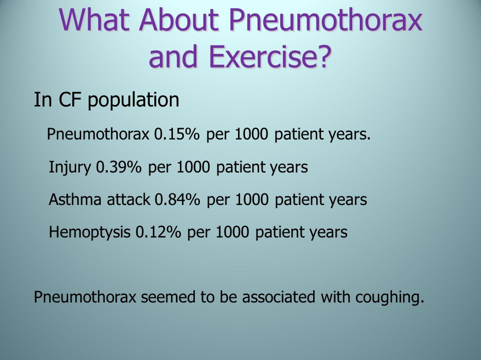 What About Pneumothorax and Exercise