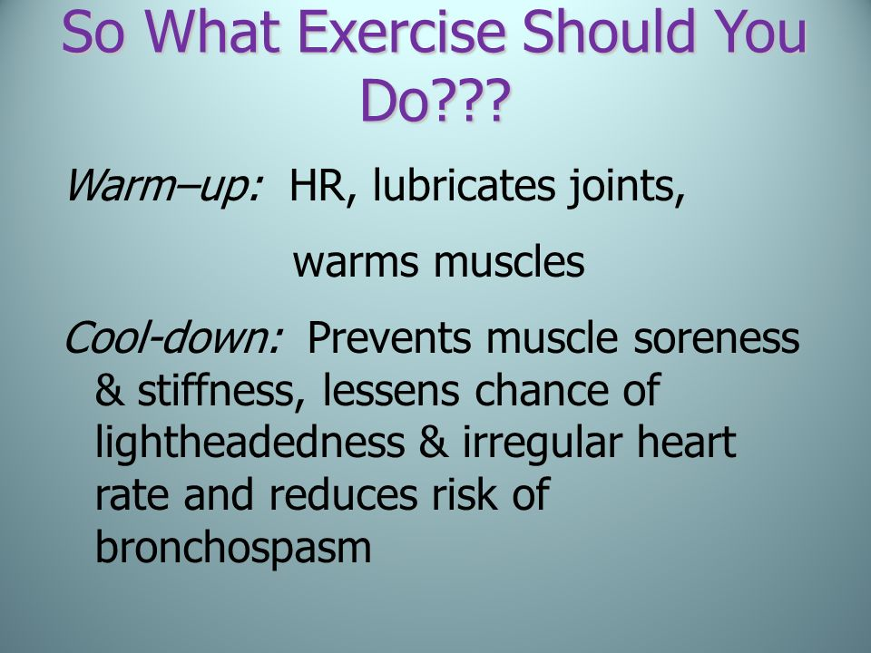 So What Exercise Should You Do
