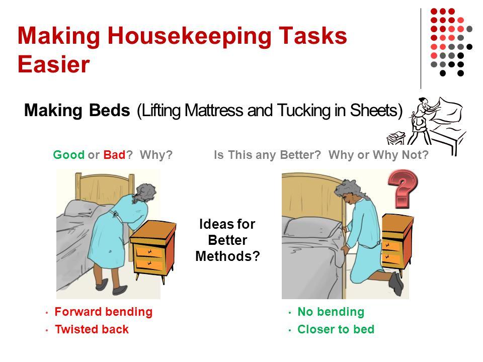Housekeeper Managers Improving Housekeeping Work Using