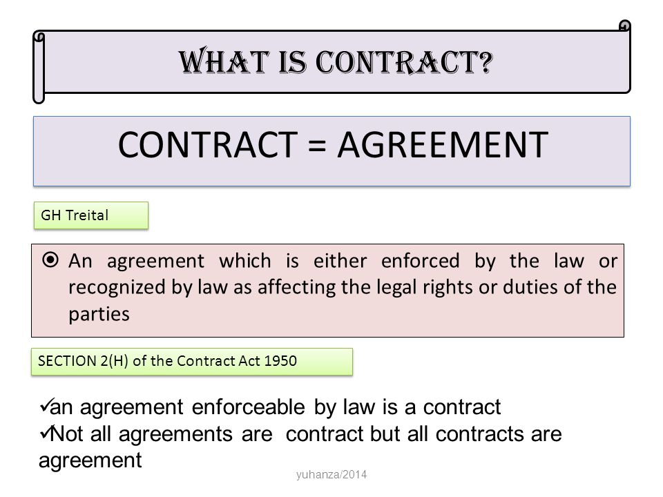 all contracts are agreement but not all agreements are contract discuss A contract is an oral or written agreement between two or more persons to take or refrain from taking some not all agreements are enforceable in court there are certain limitations on the enforceability of oral employment contracts that do not exist for written employment contracts.