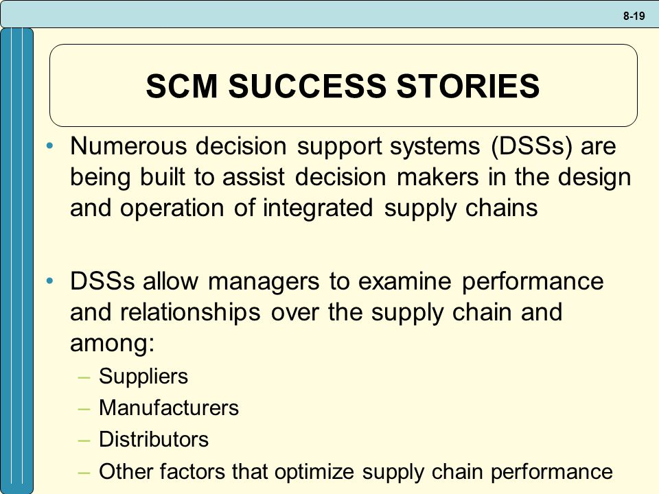 SCM SUCCESS STORIES