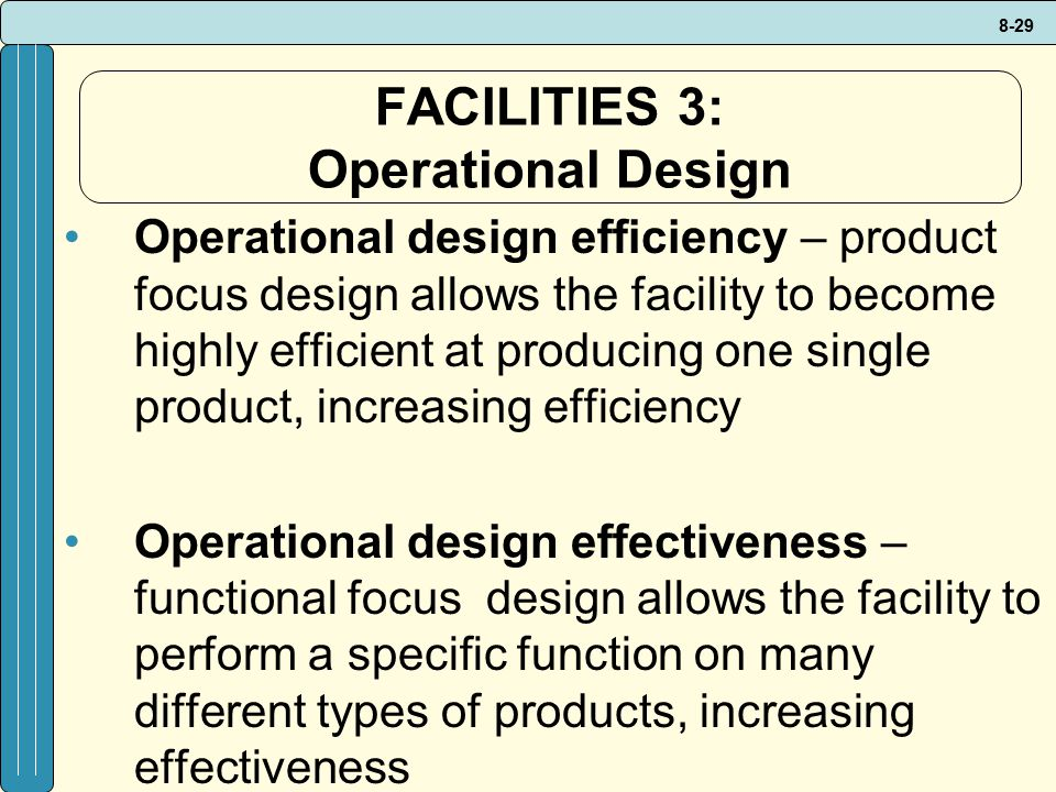 FACILITIES 3: Operational Design