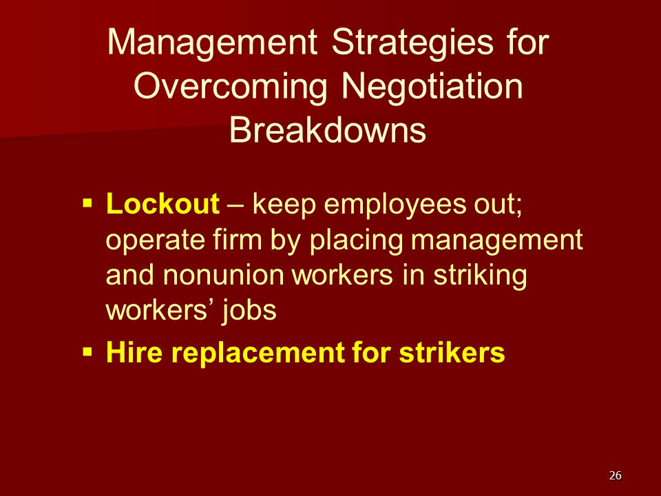 Management Strategies for Overcoming Negotiation Breakdowns