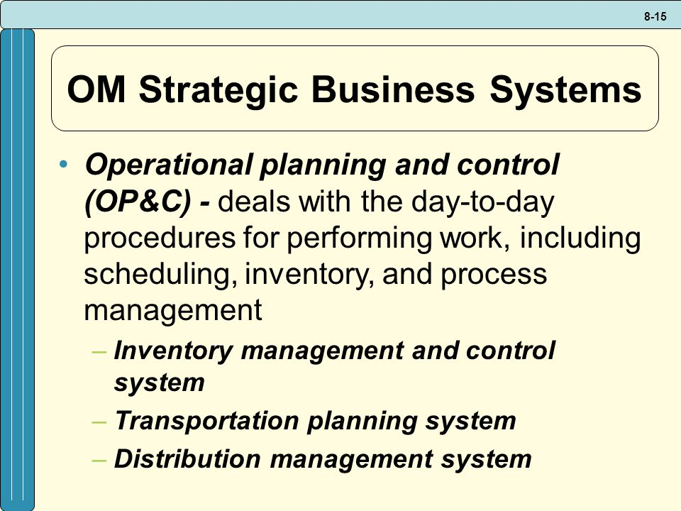 OM Strategic Business Systems