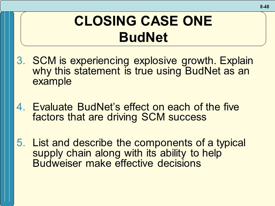 CLOSING CASE ONE BudNet