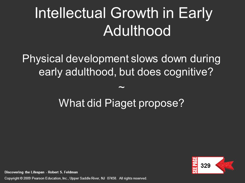 Intellectual Growth in Early Adulthood