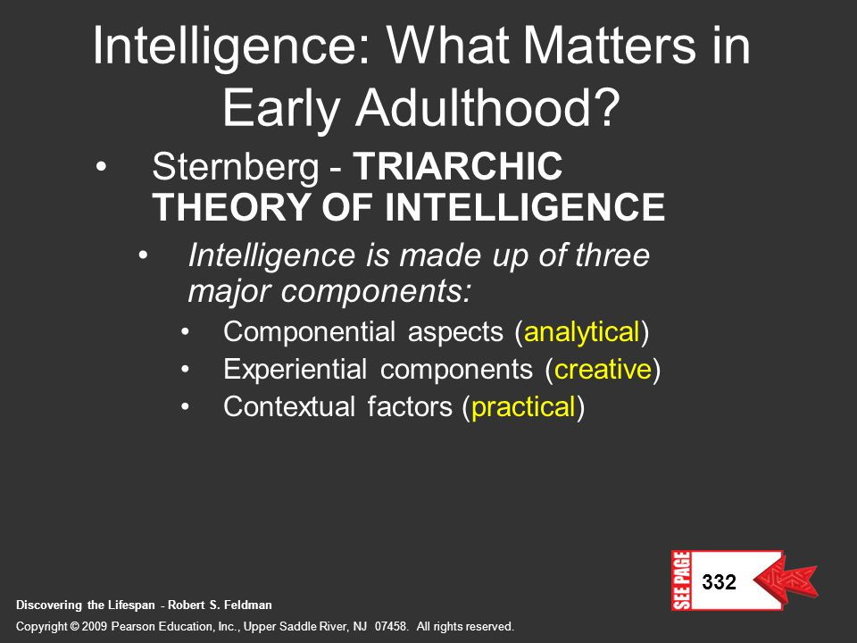 Intelligence: What Matters in Early Adulthood