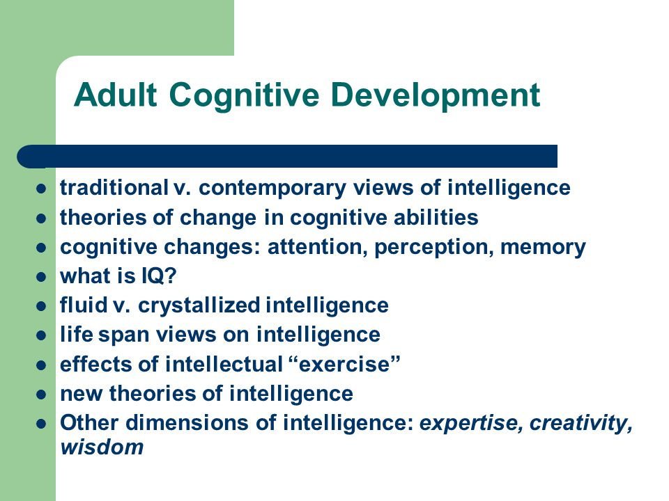 adult in Cognitive development