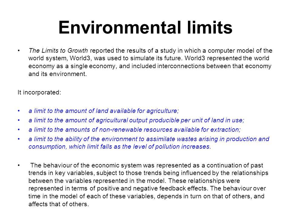 Environmental limits