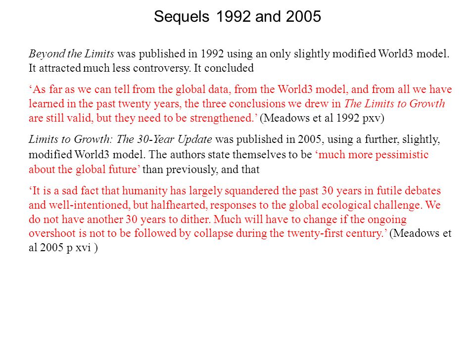 Sequels 1992 and 2005